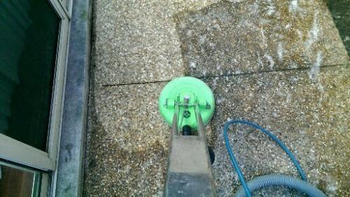 pressure clean concrete