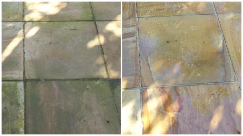 pressure clean tiles