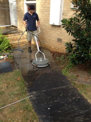 pressure cleaning path